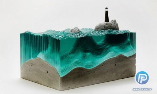 هنر ناب با استفاده از بتن و شیشه