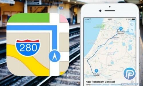 نقشه اپل خراب است؛ از گوگل مپ استفاده کنید