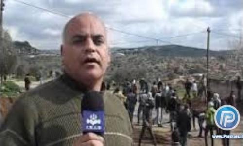 زخمی شدن گزارشگر بر اثر برخورد گلوله پلاستیکی در کرانه باختری