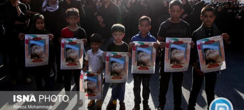 مراسم تشییع شهدای حمله تروریستی اهواز