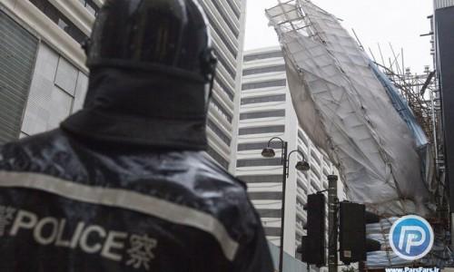 لحظاتی هولناک از ورود طوفان  به هنگ کنگ