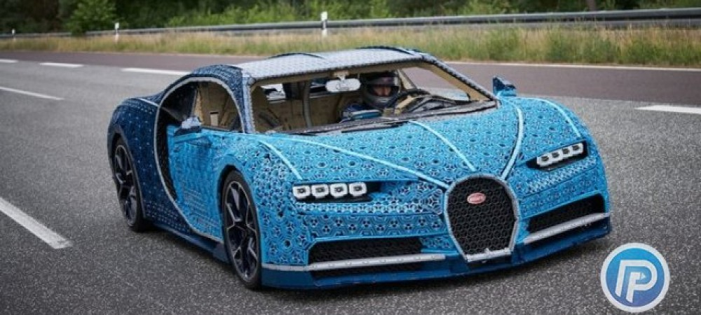 ساخت بوگاتی با قطعات لگو در نمایشگاه خودرو پاریس
