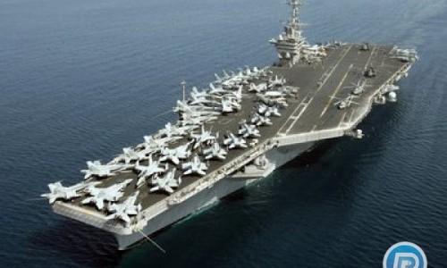 ورود ناو هواپیمابر استنیس آمریکا به آبهای خلیج فارس
