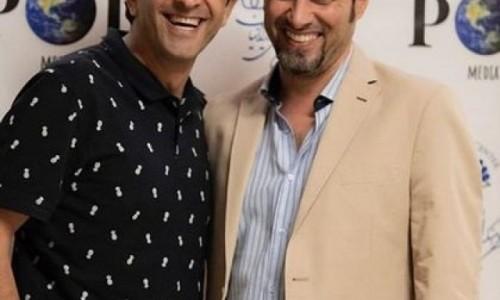مجید یاسر در کالیفرنیا با شهاب حسینی دیدار کرد