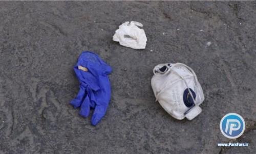 کروناهایی از جنس ماسک و دستکش در کف خیابان!