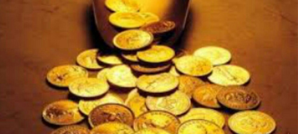 سکه های طلا و خوشبختی